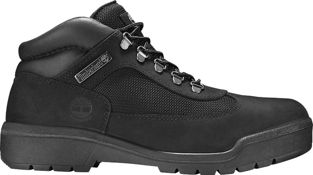 Men's Timberland Field Leather/Fabric Waterproof Boot, Black Waterbuck Nubuck, large, image 2