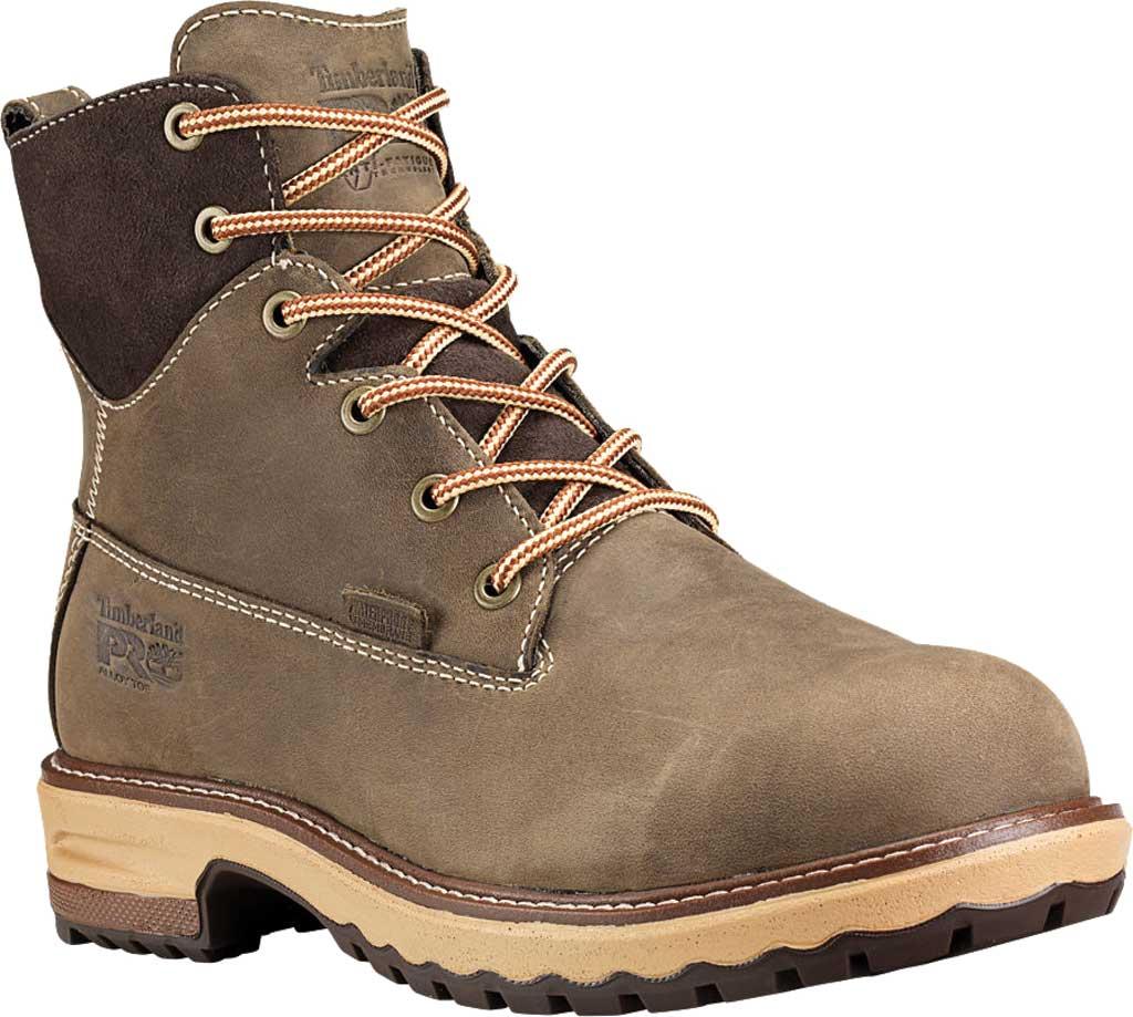 "Women's Timberland PRO 6"" Hightower Alloy Toe Waterproof Boot, Turkish Coffee Full Grain Leather, large, image 1"