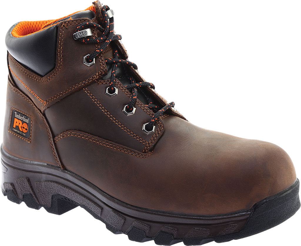 """Men's Timberland PRO 6"""" Workstead Composite Toe Work Boot, Brown Full Grain Leather, large, image 1"""
