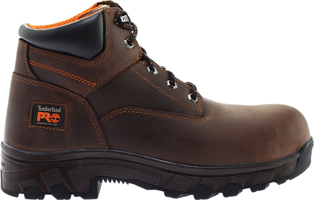 """Men's Timberland PRO 6"""" Workstead Composite Toe Work Boot, Brown Full Grain Leather, large, image 2"""