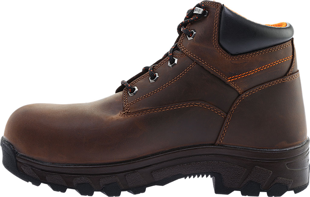 """Men's Timberland PRO 6"""" Workstead Composite Toe Work Boot, Brown Full Grain Leather, large, image 3"""