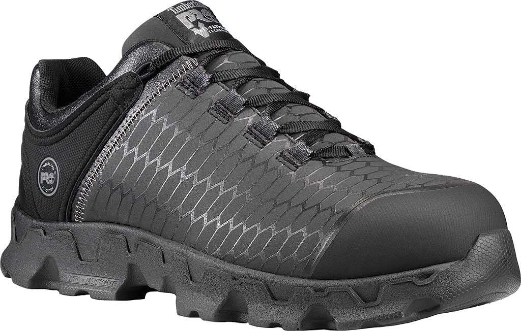 Men's Timberland PRO Powertrain Sport Alloy Safety Toe SD+ Work Shoe, Black Ever-Guard Leather, large, image 1