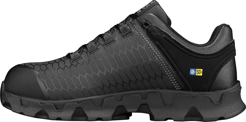 Men's Timberland PRO Powertrain Sport Alloy Safety Toe SD+ Work Shoe, Black Ever-Guard Leather, large, image 2