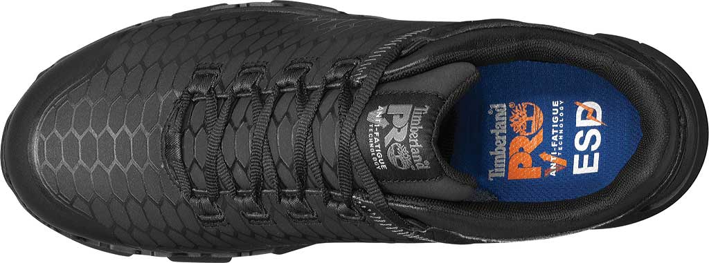Men's Timberland PRO Powertrain Sport Alloy Safety Toe SD+ Work Shoe, Black Ever-Guard Leather, large, image 4