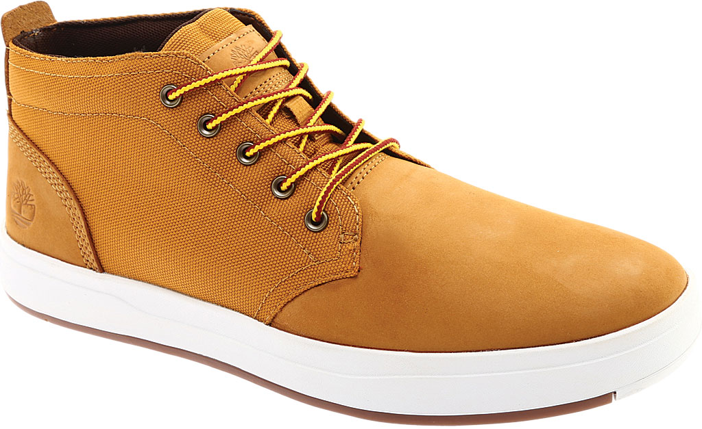 Men's Timberland Davis Square Fabric/Leather Chukka Boot, Wheat Nubuck/Cordura EcoMade Fiber, large, image 1