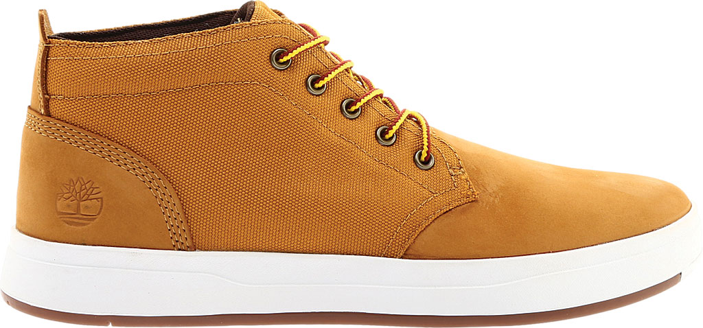 Men's Timberland Davis Square Fabric/Leather Chukka Boot, Wheat Nubuck/Cordura EcoMade Fiber, large, image 2