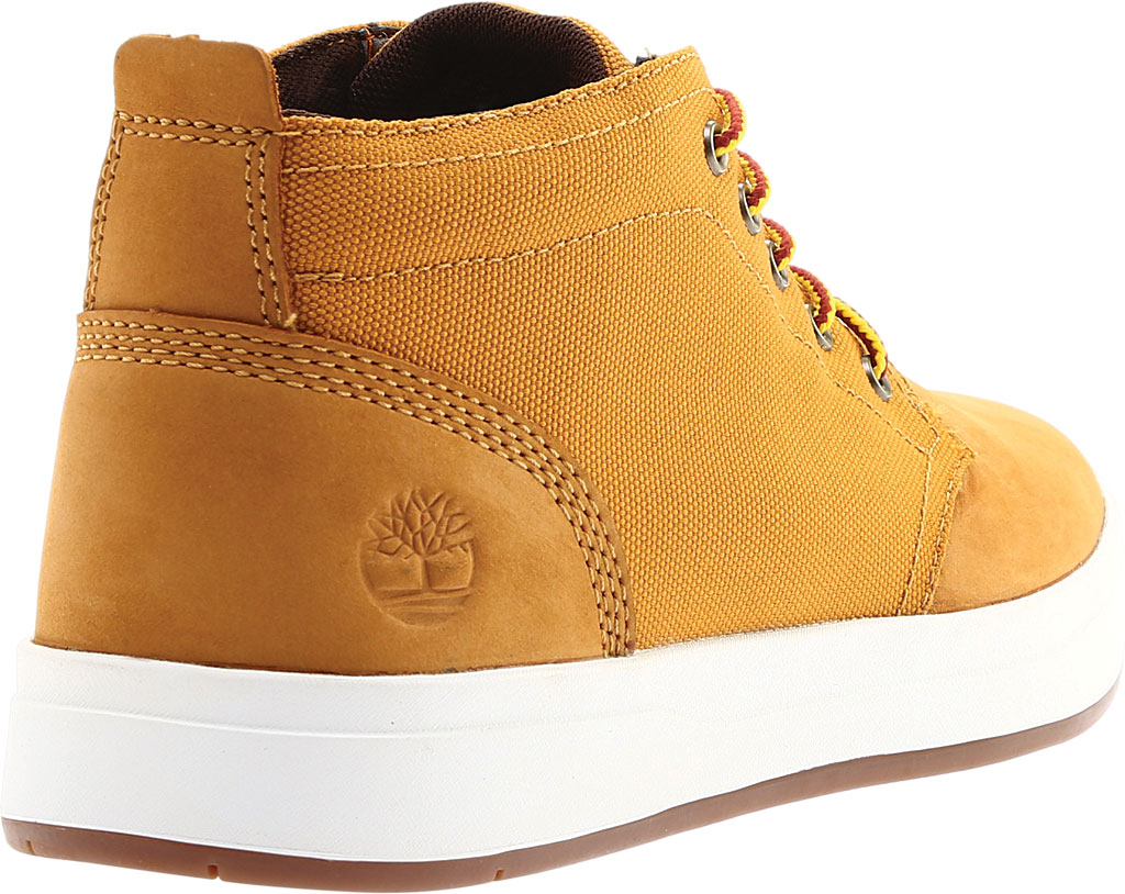 Men's Timberland Davis Square Fabric/Leather Chukka Boot, Wheat Nubuck/Cordura EcoMade Fiber, large, image 4