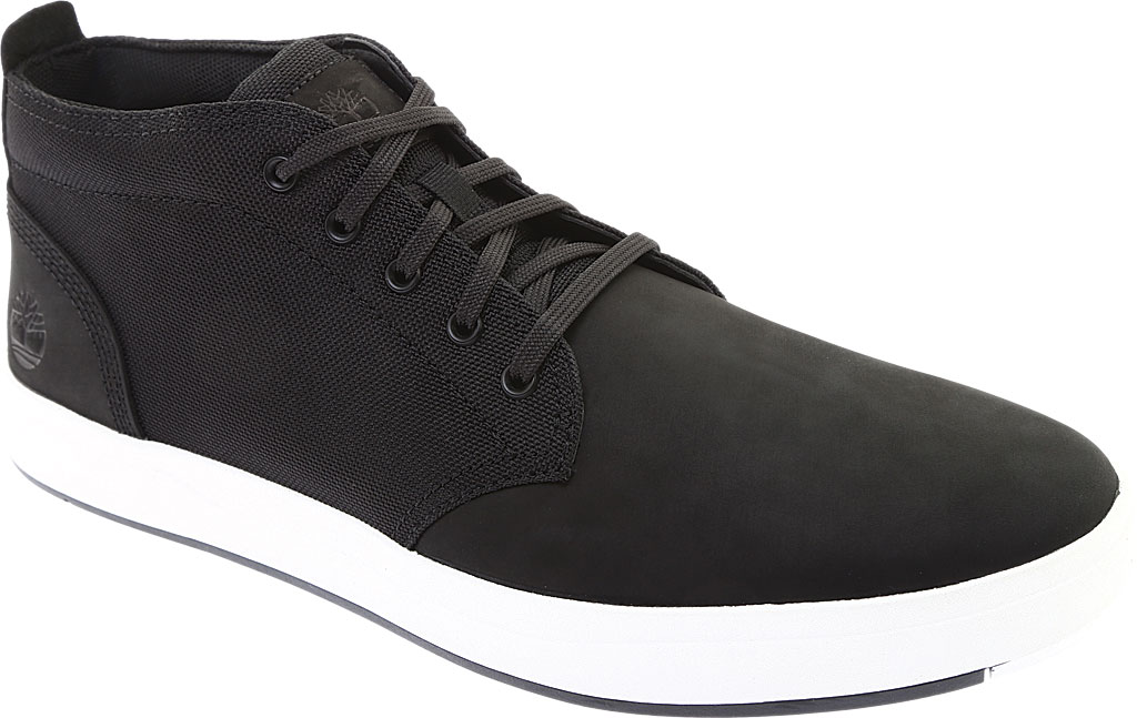 Men's Timberland Davis Square Fabric/Leather Chukka Boot, Black Nubuck/Cordura EcoMade Fiber, large, image 1