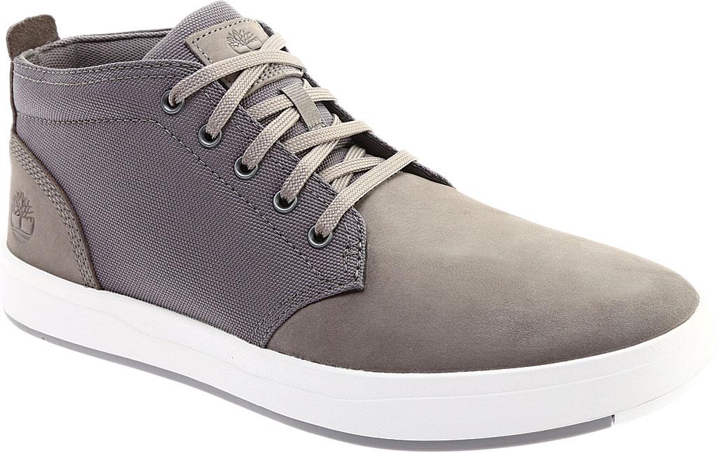 Men's Timberland Davis Square Fabric/Leather Chukka Boot, Medium Grey Nubuck/Cordura Fiber, large, image 1