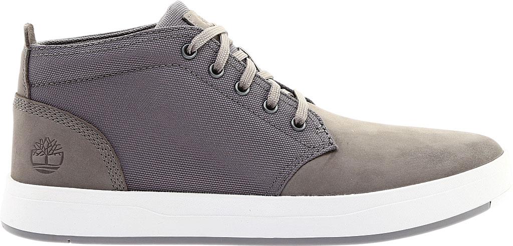 Men's Timberland Davis Square Fabric/Leather Chukka Boot, Medium Grey Nubuck/Cordura Fiber, large, image 2