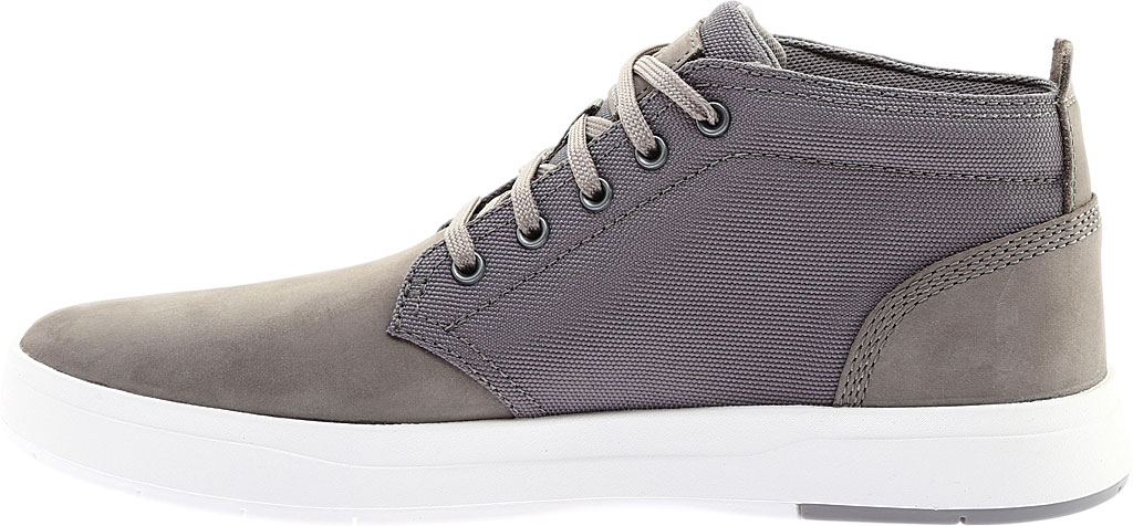 Men's Timberland Davis Square Fabric/Leather Chukka Boot, Medium Grey Nubuck/Cordura Fiber, large, image 3