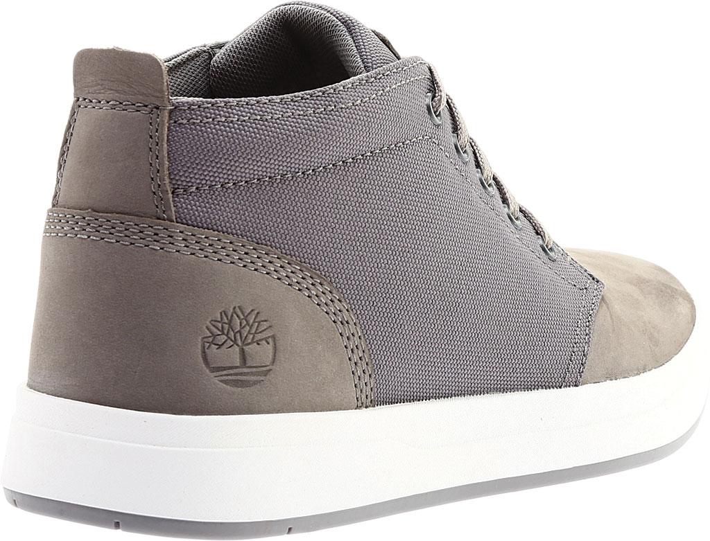Men's Timberland Davis Square Fabric/Leather Chukka Boot, Medium Grey Nubuck/Cordura Fiber, large, image 4
