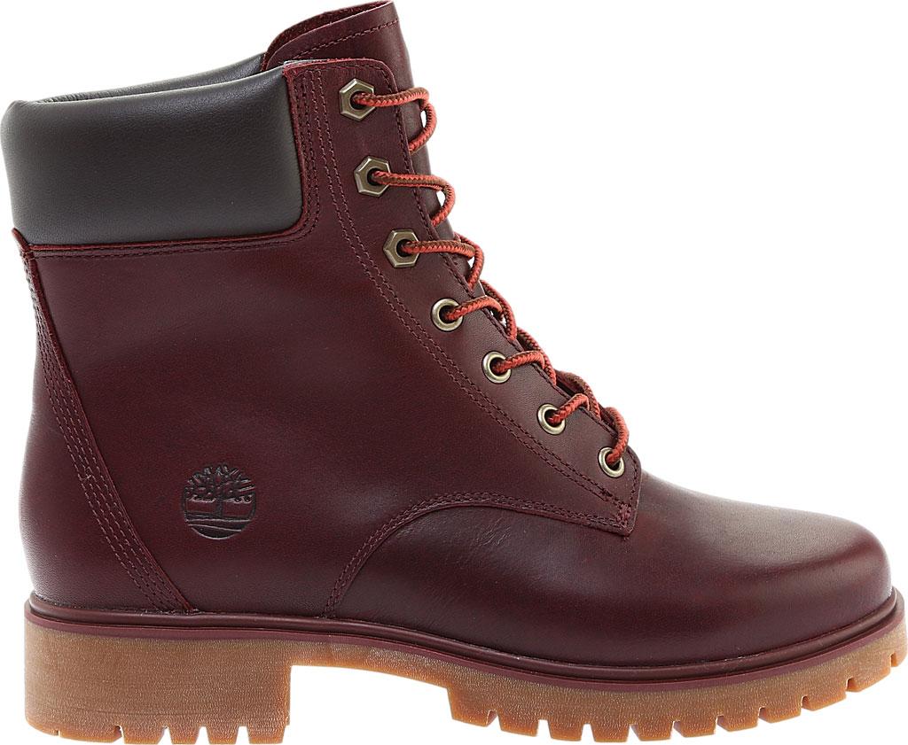 "Women's Timberland Jayne 6"" Waterproof Ankle Boot, Burgundy Full Grain Leather, large, image 2"