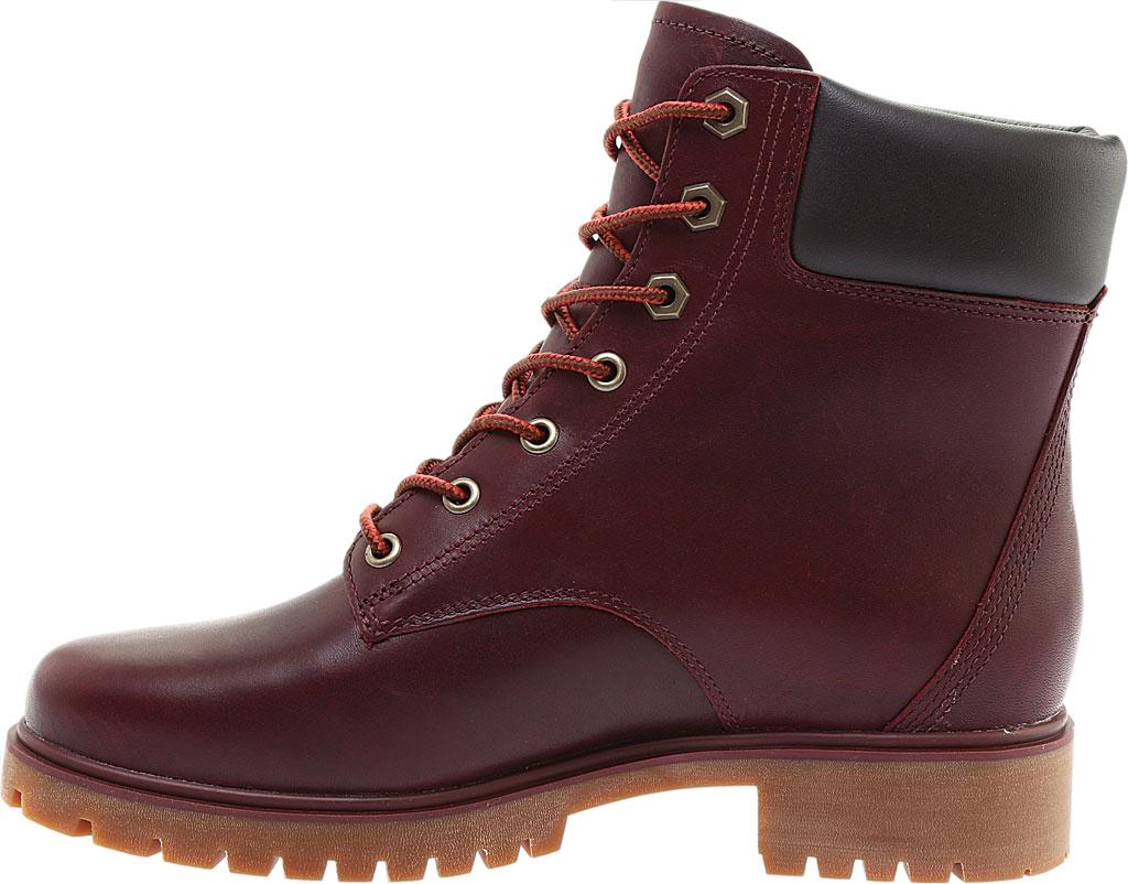 "Women's Timberland Jayne 6"" Waterproof Ankle Boot, Burgundy Full Grain Leather, large, image 3"