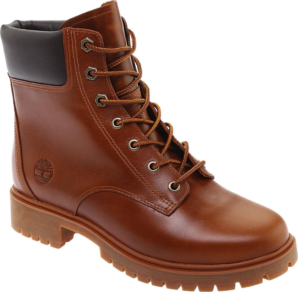 "Women's Timberland Jayne 6"" Waterproof Ankle Boot, Medium Brown Full Grain Leather, large, image 1"
