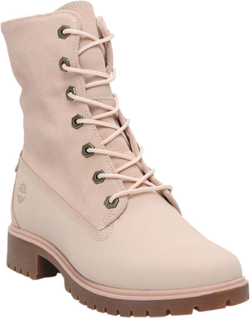 Women's Timberland Jayne Teddy Fleece Fold Down Waterproof Boot, Light Pink Nubuck, large, image 1