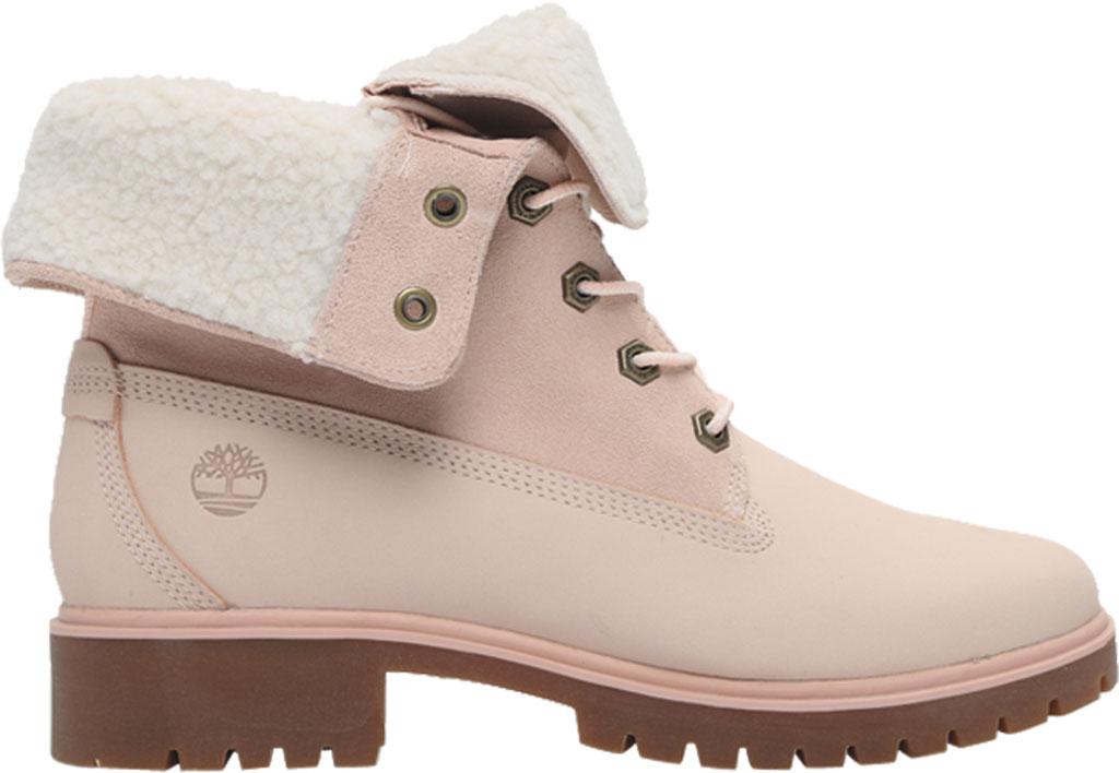Women's Timberland Jayne Teddy Fleece Fold Down Waterproof Boot, Light Pink Nubuck, large, image 2