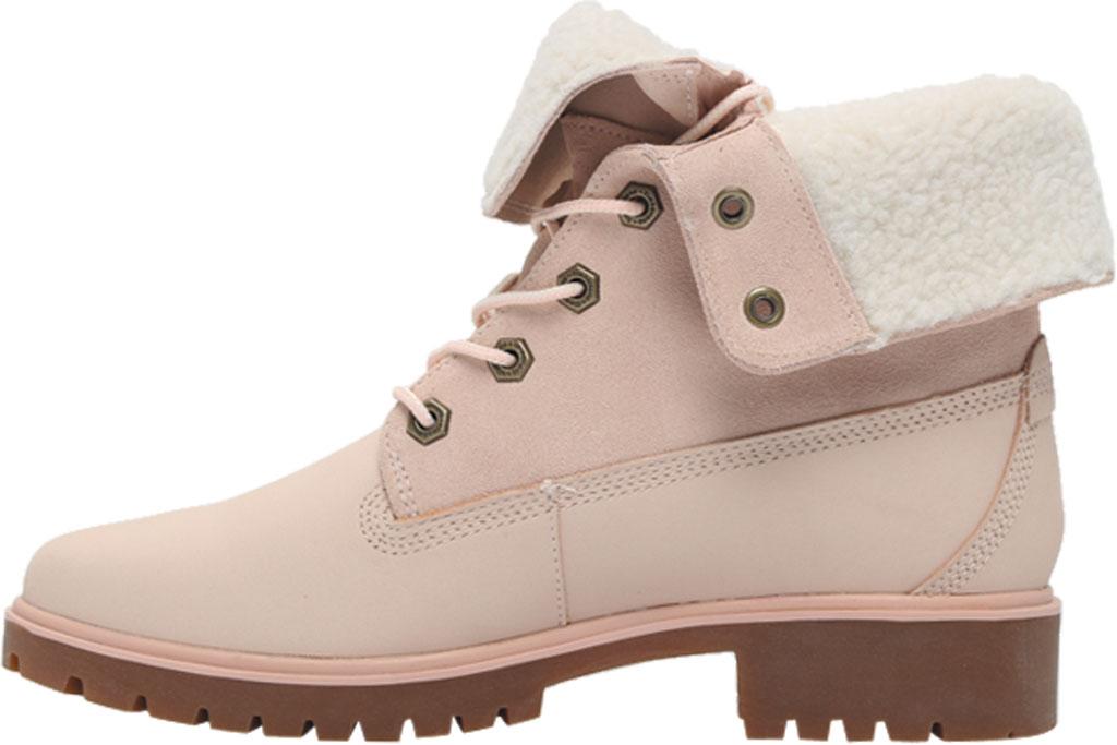 Women's Timberland Jayne Teddy Fleece Fold Down Waterproof Boot, Light Pink Nubuck, large, image 3