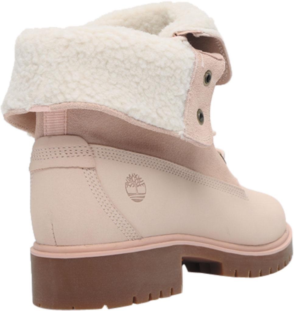 Women's Timberland Jayne Teddy Fleece Fold Down Waterproof Boot, Light Pink Nubuck, large, image 4