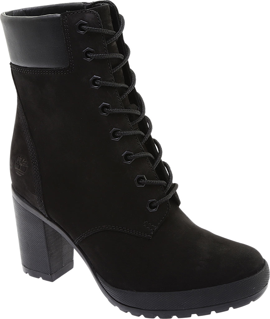 """Women's Timberland Camdale 6"""" Ankle Bootie, Black Nubuck, large, image 1"""