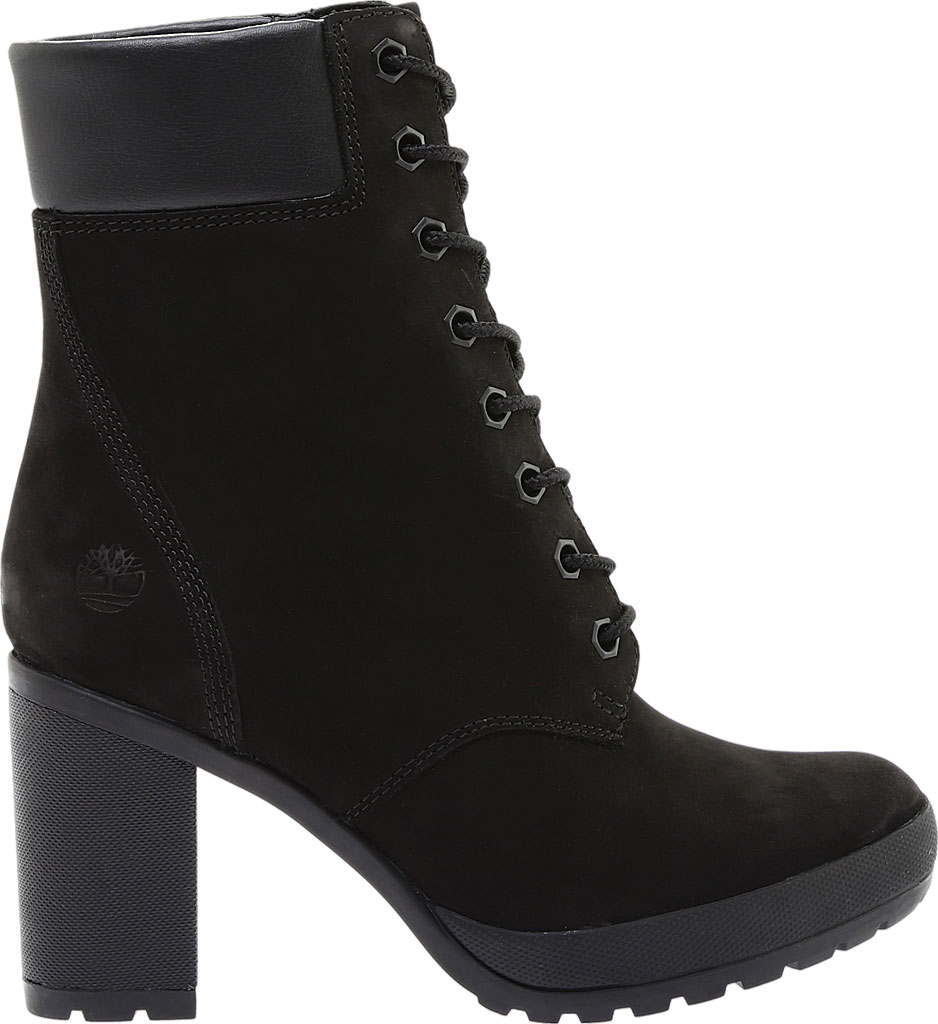 """Women's Timberland Camdale 6"""" Ankle Bootie, Black Nubuck, large, image 2"""