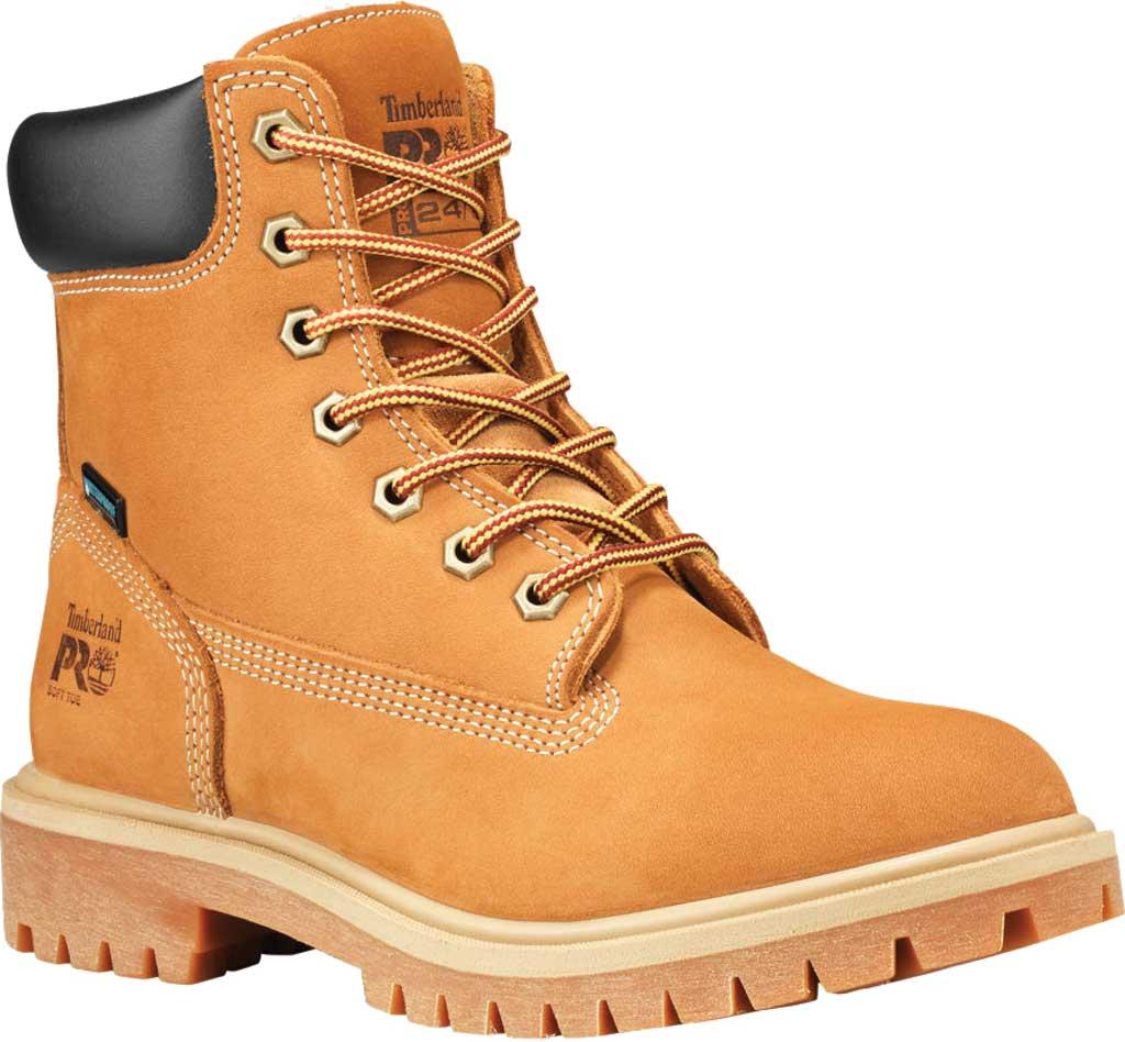 """Women's Timberland PRO 6"""" Direct Attach Soft Toe Waterproof Work Boot, Wheat Nubuck, large, image 1"""