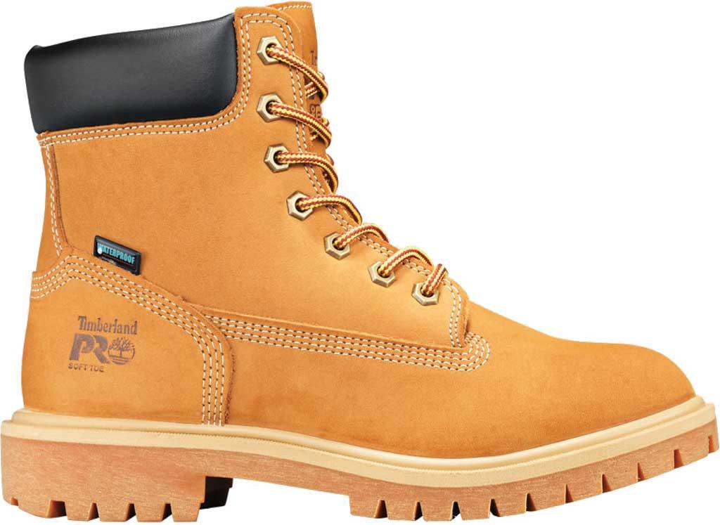 """Women's Timberland PRO 6"""" Direct Attach Soft Toe Waterproof Work Boot, Wheat Nubuck, large, image 2"""