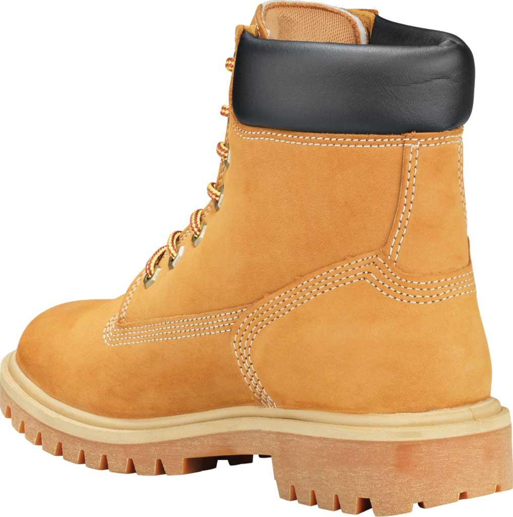 """Women's Timberland PRO 6"""" Direct Attach Soft Toe Waterproof Work Boot, Wheat Nubuck, large, image 3"""