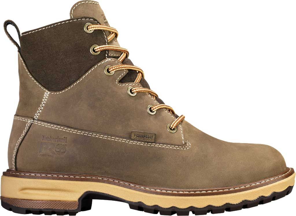 "Women's Timberland PRO 6"" Hightower Soft Toe Waterproof Work Boot, Turkish Coffee Full Grain Leather, large, image 2"