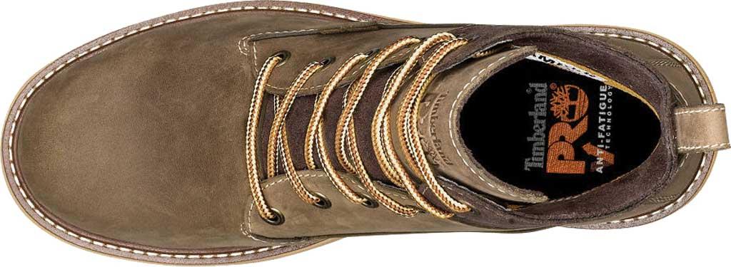 "Women's Timberland PRO 6"" Hightower Soft Toe Waterproof Work Boot, Turkish Coffee Full Grain Leather, large, image 4"