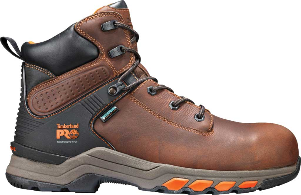 """Men's Timberland PRO Hypercharge 6"""" Composite Toe Waterproof Boot, Brown Full Grain Leather, large, image 2"""