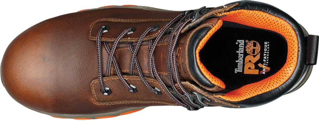 """Men's Timberland PRO Hypercharge 6"""" Composite Toe Waterproof Boot, Brown Full Grain Leather, large, image 4"""