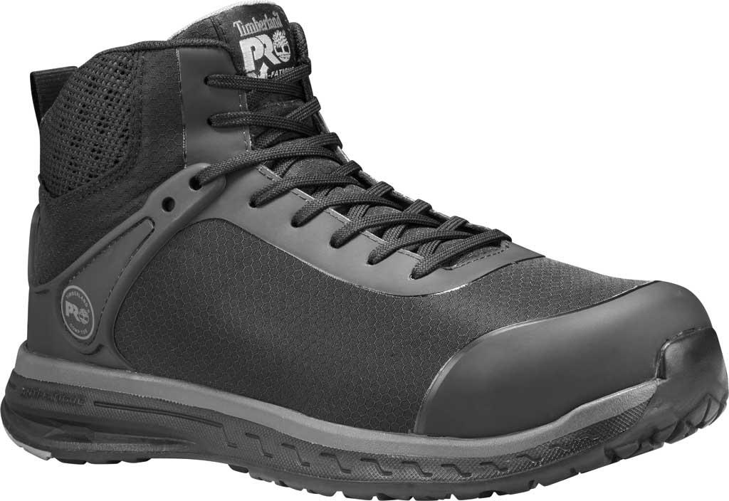 Men's Timberland PRO Drivetrain Mid Composite Safety Toe Boot SD35, Black Ripstop Nylon, large, image 1