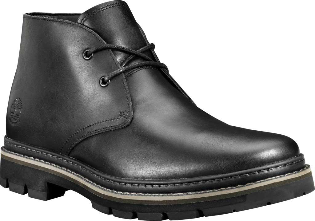 Men's Timberland Port Union Waterproof Chukka Boot, Black Full Grain Leather, large, image 1