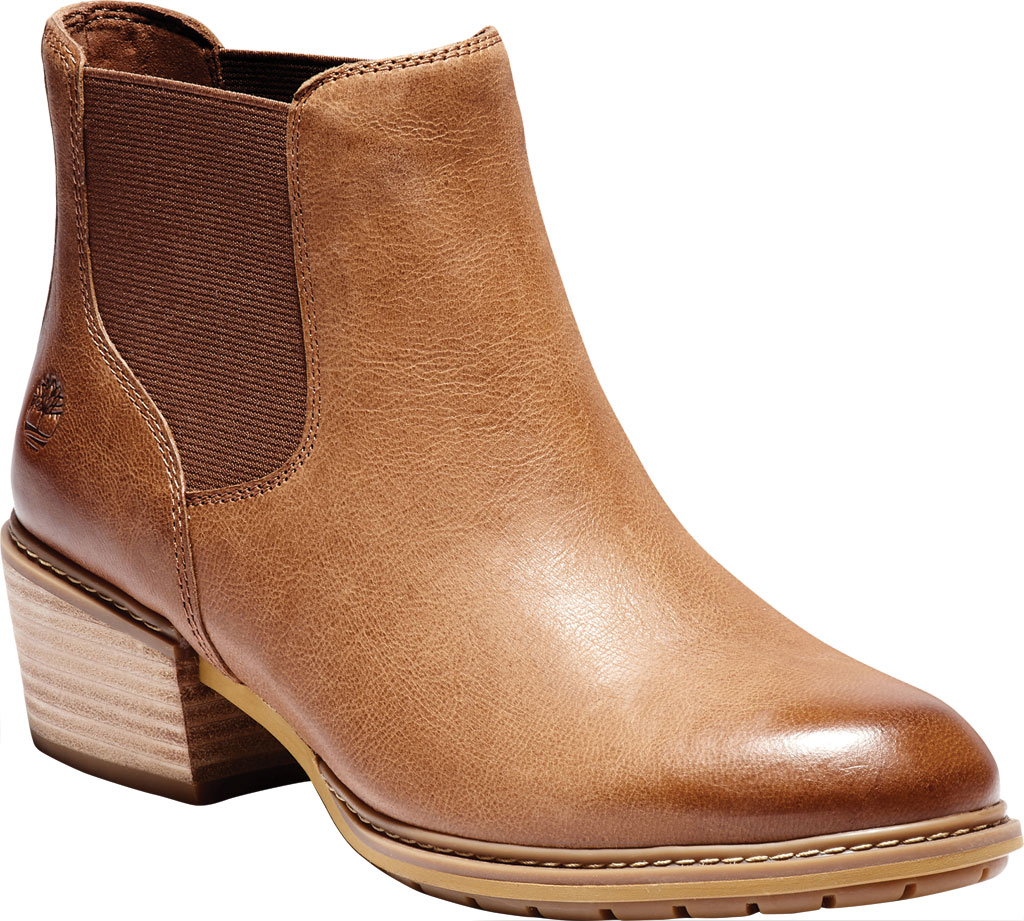 Women's Timberland Sutherlin Bay Low Chelsea Boot, Medium Brown Full Grain Leather, large, image 1