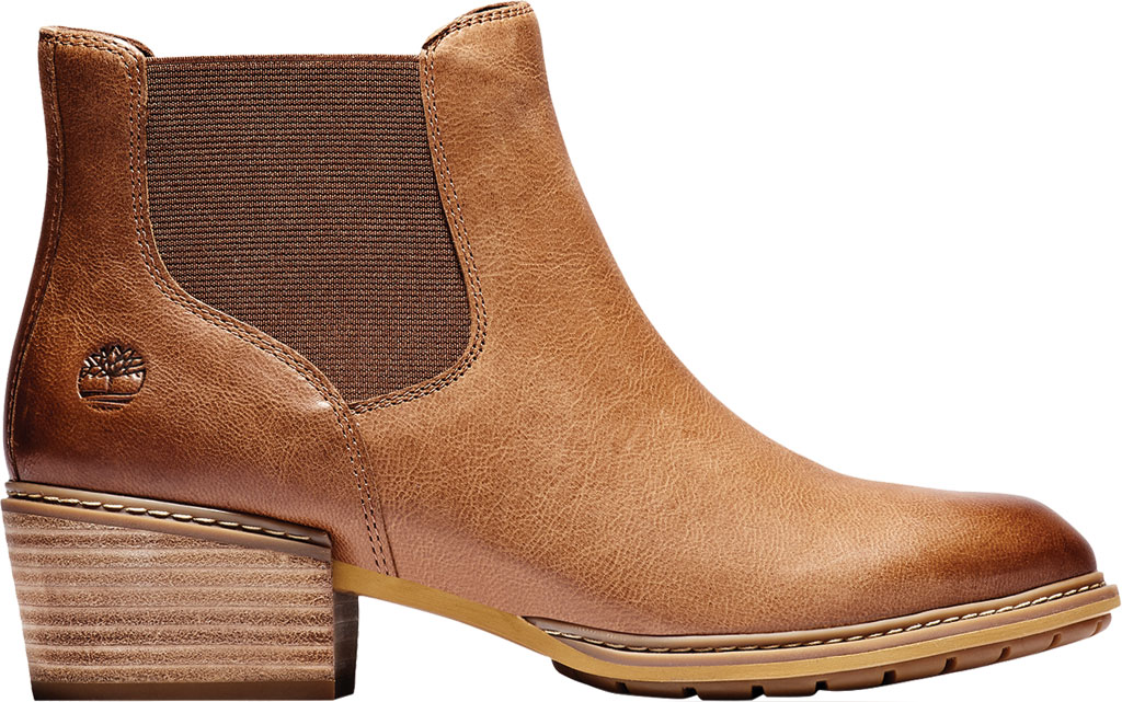 Women's Timberland Sutherlin Bay Low Chelsea Boot, Medium Brown Full Grain Leather, large, image 2
