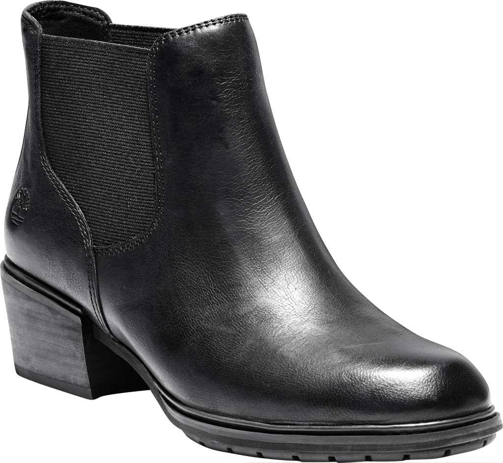 Women's Timberland Sutherlin Bay Low Chelsea Boot, Black Full Grain Leather, large, image 1