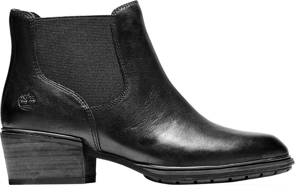 Women's Timberland Sutherlin Bay Low Chelsea Boot, Black Full Grain Leather, large, image 2