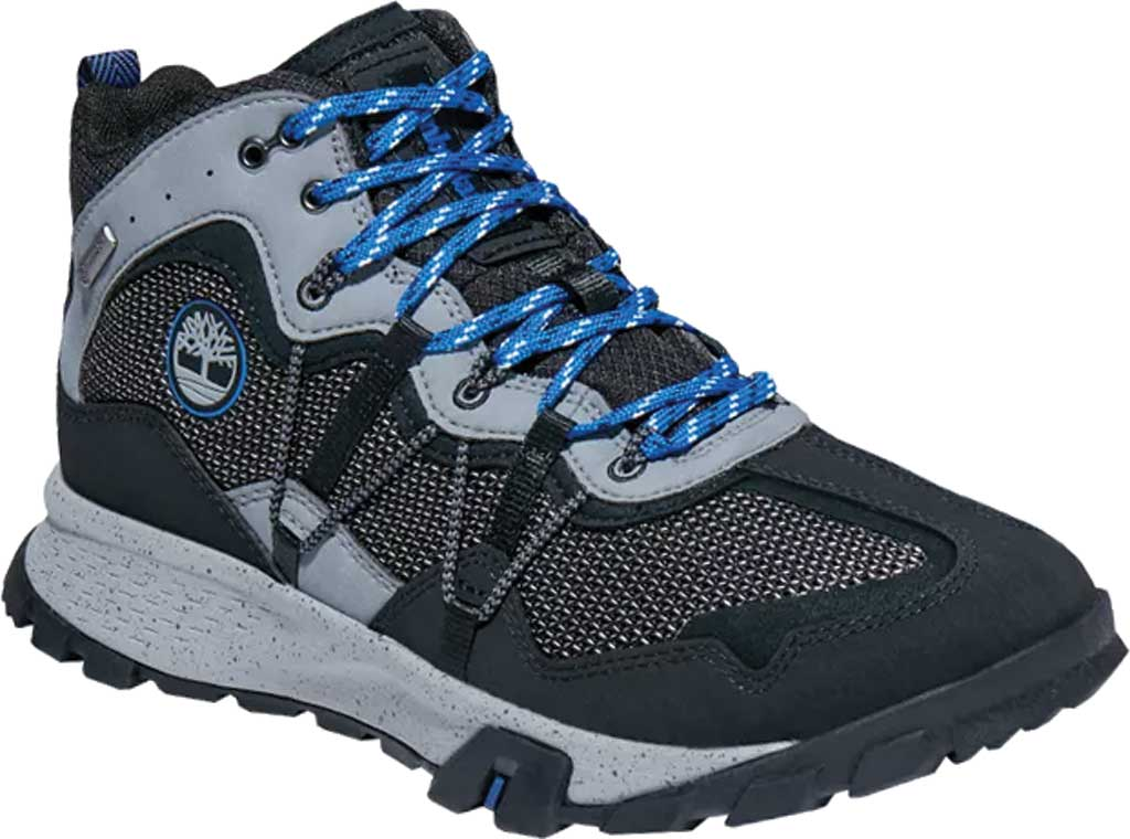 Men's Timberland Garrison Trail Waterproof Mid Fabric Hiker, Black/Grey Synthetic, large, image 1