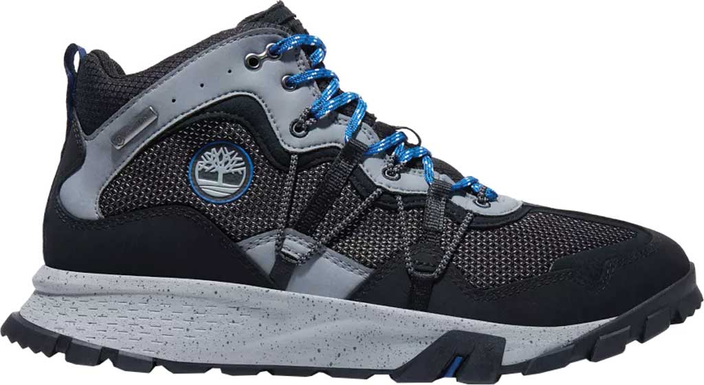 Men's Timberland Garrison Trail Waterproof Mid Fabric Hiker, Black/Grey Synthetic, large, image 2