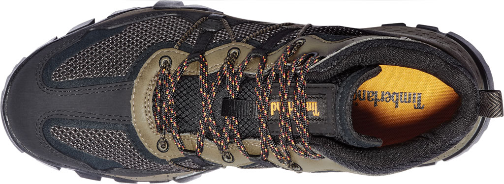 Men's Timberland Garrison Trail Waterproof Mid Fabric Hiker, Black/Brown ReBOTL Fabric/Synthetic Leather, large, image 3