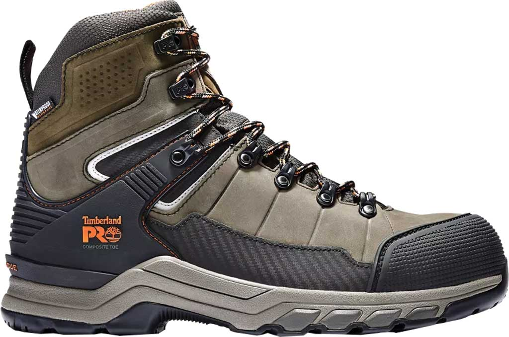 """Men's Timberland PRO Hypercharge 6"""" TRD Composite Safety Toe Boot, Brown Canteen Nubuck Leather, large, image 2"""