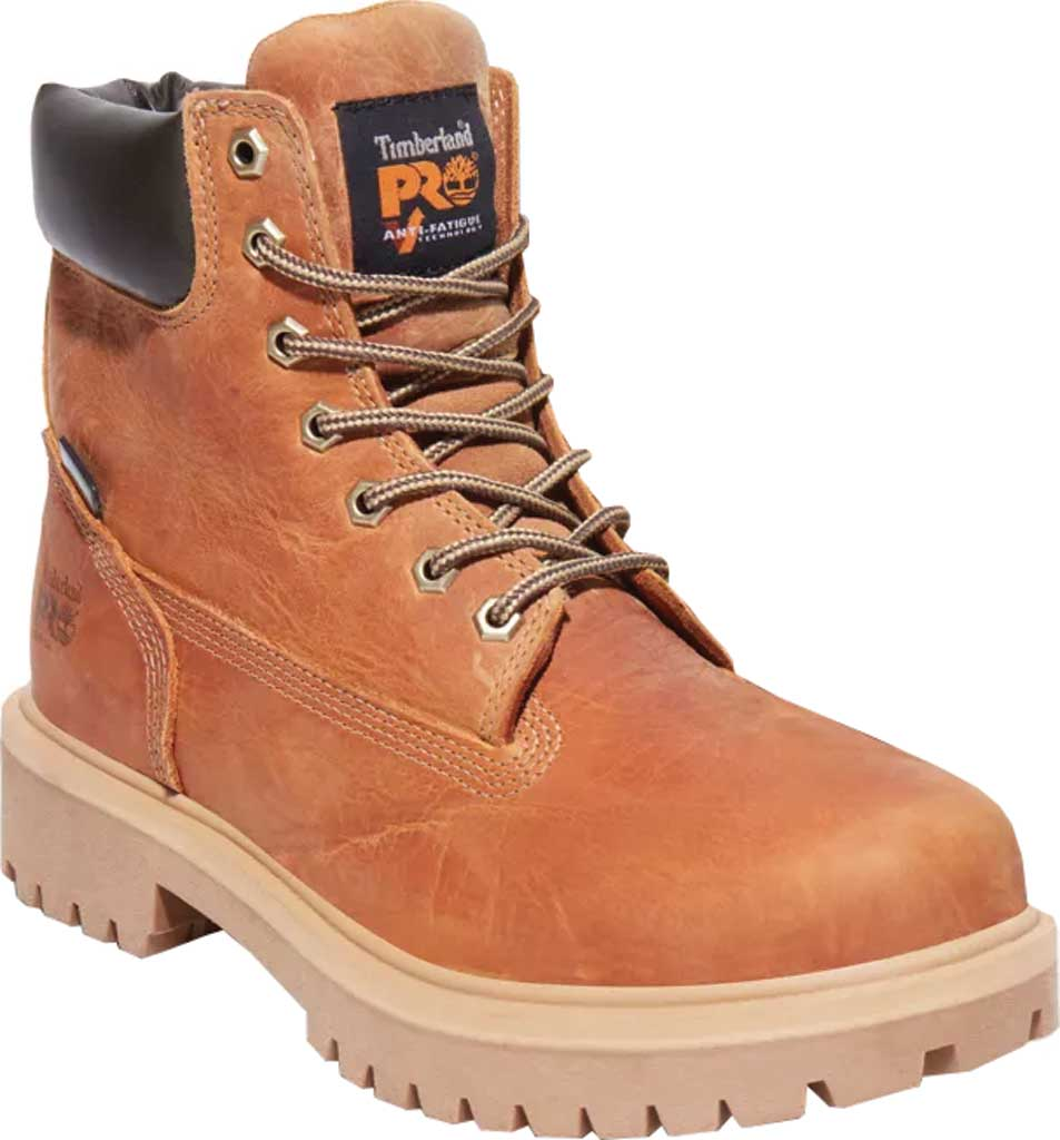 """Men's Timberland PRO Direct Attach 6"""" Soft Toe Waterproof Boot, Marigold Full Grain Leather, large, image 1"""