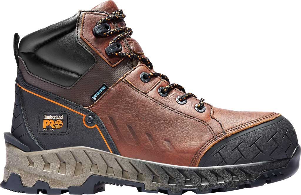"Men's Timberland PRO Work Summit 6"" Soft Toe Waterproof Boot, Brown Full Grain Leather, large, image 2"