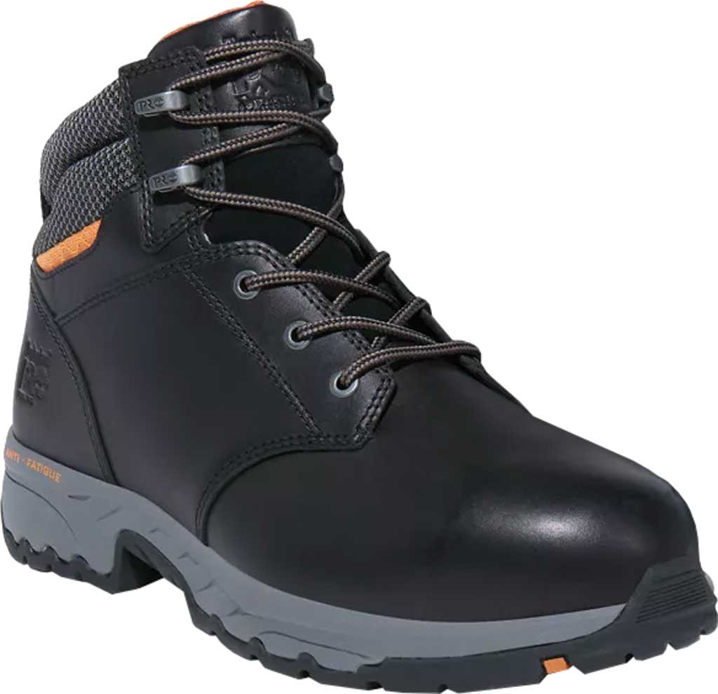"Men's Timberland PRO Band Saw 6"" Steel Safety Toe Work Boot, Black Full Grain Leather, large, image 1"