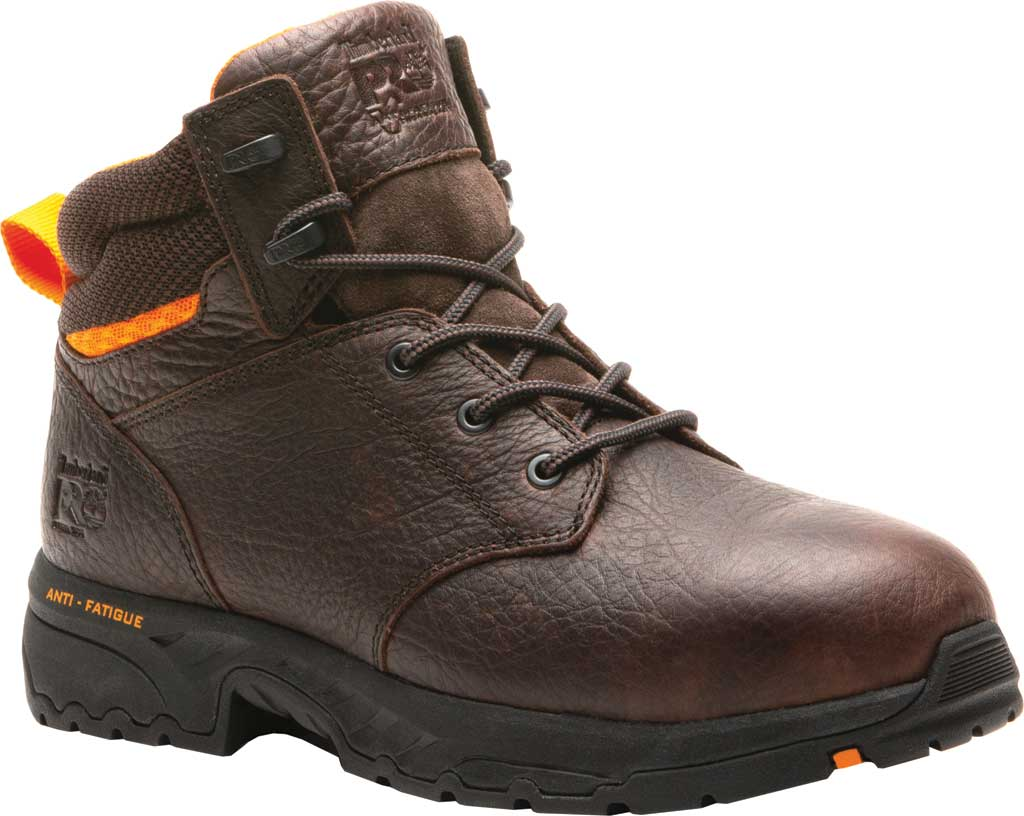 """Men's Timberland PRO Band Saw 6"""" Steel Safety Toe Work Boot, Brown Full Grain Leather, large, image 1"""