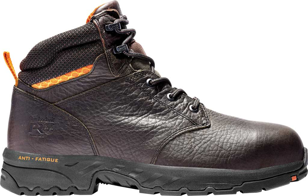 """Men's Timberland PRO Band Saw 6"""" Steel Safety Toe Work Boot, Brown Full Grain Leather, large, image 2"""