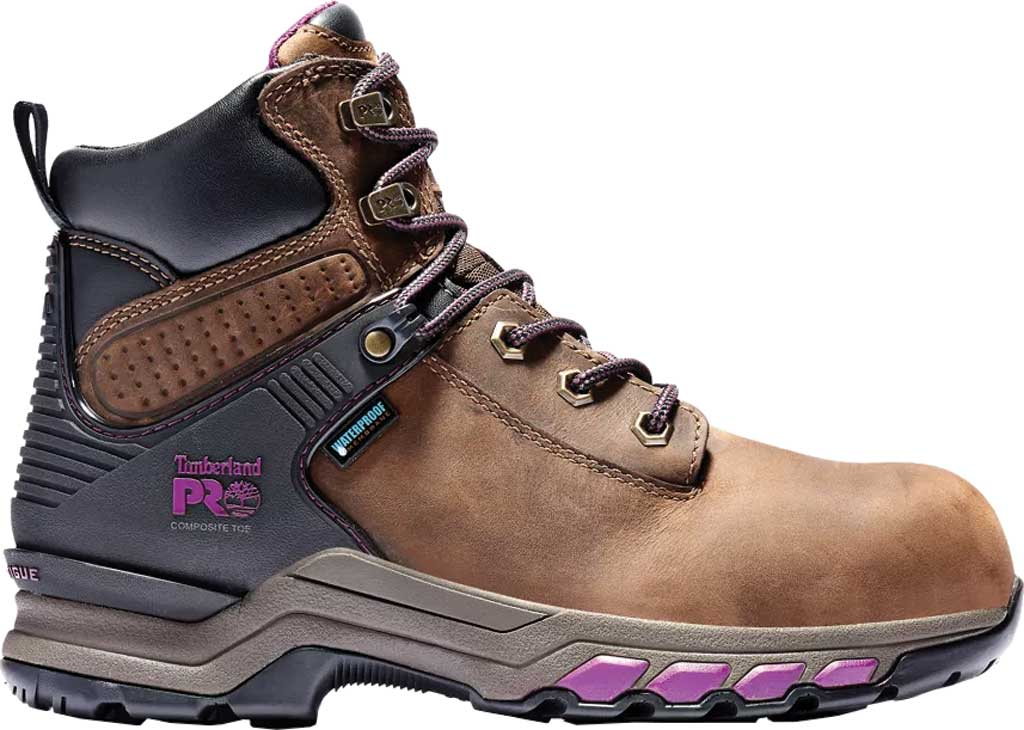 """Women's Timberland PRO Hypercharge 6"""" Composite Safety Toe Boot, Brown/Maroon Full Grain Leather, large, image 2"""