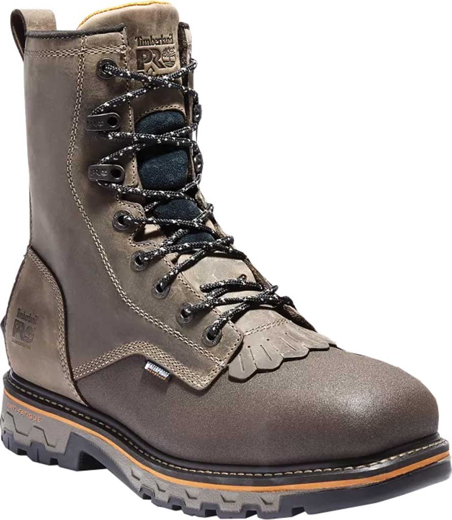 """Men's Timberland PRO True Grit 8"""" Composite Safety Toe Ever-Guard Boot, Brown Turkish Coffee Full Grain Leather, large, image 1"""