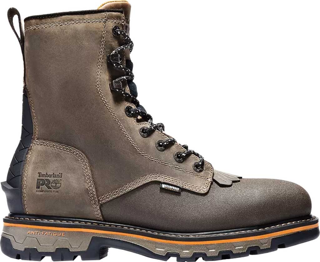 """Men's Timberland PRO True Grit 8"""" Composite Safety Toe Ever-Guard Boot, Brown Turkish Coffee Full Grain Leather, large, image 2"""